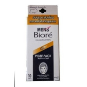 Biore MEN Nose Deep Cleansing Pore Pack Active 10 Strips # White Made in Thailand