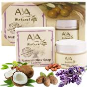 Pregnancy Stretch Marks Belly Kit - Premium 100% Natural Skin Tummy Butter 50ml & Lavender Soap 100ml - Shea, Cocoa, Coconut, Jojoba, Olive & Almond Oils Blend Set