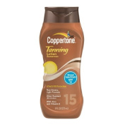 Coppertone Tanning Lotion Sunscreen, SPF 15 8 fl oz (237 ml) Pack of 4