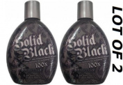 LOT of 2 NEW Solid Black 100x Bronzer Indoor Tanning Bed Lotion