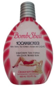 Bombshell Tanning Bed Lotion 100x Hot Tingle w/ Bronzer By Designer Skin
