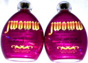 Lot of 2 Jwoww One and Done Black Bronzer Tanning Bed Lotion By Australian Gold.