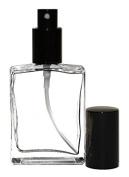 Grand Parfums 100ml Empty Refillable Glass Atomizer Bottle Cologne Perfume Fine Mist Black Sprayer 60ml 2 Oz