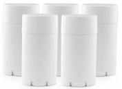 10pcs Plastic White 15ml Empty Oval Deodorant Container Lip Balm Tubes Lip Gloss Container Holder With Caps