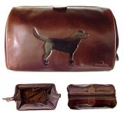 Leather Wash Bag - Labrador