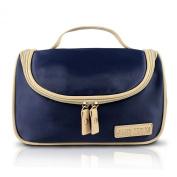 Hanging Travel / Cosmetic Makeup Ladies Toiletry Bag Navy Blue