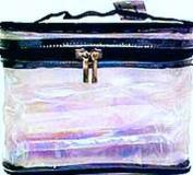Cosmetic Bags-Sicara Clear Oval Train Case 16 pcs sku# 903929MA