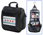 Chicago Flag Toiletry Bag or Shaving Kit - Travel Bag Chicago Cosmetic Bag
