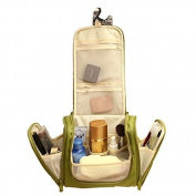 Restroom and Toiletries Bag for Women Makeup or Men Shaving Kit with Hanging ,Green Colour Model: