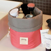 Annie Queen Travel Restroom Barrel Cosmetic Bag multi Makeup Bags,Pink
