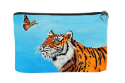 Tiger Cosmetic Bag - Support Wildlife Conservation, Read How - From My Original Painting, Wonder