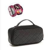 orota Quilted Cosmetic bagTravel Bag ,black