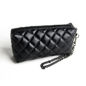 Orota Quilted Cosmetic Clutch Makeup Purse Bag Black