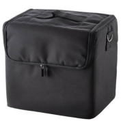 Oxford Portable Black Cosmetic Soft Makeup Train Case