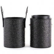 High Quality Beauty Printing Brush Cup Holder Cosmetic Brushes Case Black