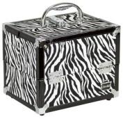 Caboodles Train Case Adored in Zebra Print