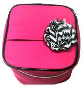 2015 Cosmetic Makeup Organiser Travel Train Case Bag, Pink or Black