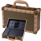 MegaBrand Mini Bronze Hair Stylist Salon Makeup Train Case