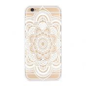 iphone6s Plus, 14cm Mandala Pattern Flower White Hard Case Skin Cover