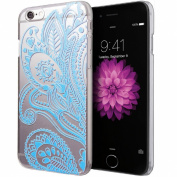 iphone6s Plus, 14cm Henna Blue Floral Flower Plastic Case Cover Skin