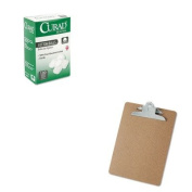 KITMIICUR110163UNV40304 - Value Kit - Curad Sterile Cotton Balls (MIICUR110163) and Universal 40304 Letter Size Clipboards