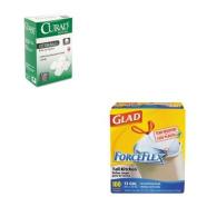 KITCOX70427MIICUR110163 - Value Kit - Curad Sterile Cotton Balls (MIICUR110163) and Glad ForceFlex Tall-Kitchen Drawstring Bags