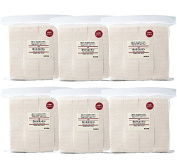 MUJI Makeup Facial Soft Cut Cotton Unbleached (140pcs) 6Packs Set