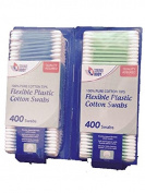 Sound Body Quality Assured Flexible Plastic Cotton Swabs-Blue and Green-Total 800 Swabs