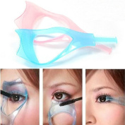 AUCH 5Pcs Functional Cosmetic/Makeup 3 in 1 Eyelash Baffle Comb Applicator Helper/Guide Card Tool, Random Colour