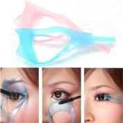 AUCH 5Pcs Functional Cosmetic/Makeup 3 in 1 Eyelash Baffle Comb Applicator Helper/Guide Card Tool, Random Colour