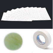 XX Shop Jade Stone Glue Pallet 5.1cm Wide(1pc) + Micropore Tape(1pc) + 10 Pcs Eye Stickers Pads Patches for Eyelash Extensions set