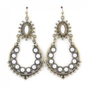 Vintage Feel Stone Decorated Dangle Drop Earrings