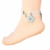 Lowpricenice(TM) Lace Women Anklet Cherry Blossoms Bracelet