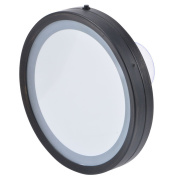 Ovente MLI25BZ LED Lighted Compact Travel Mirror, 15cm , Oil Rubbed Bronze