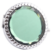 Round-Shaped Compact Makeup Mirror Glass Surface Grey Colour