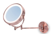 Ovente MFW85CO LED Surround Lighted Wall Mount Vanity Mirror, 1x/10 Magnification