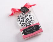 "Glam Girl ""Cheetah Print"" Compact Mirror , 5"