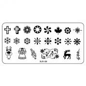 Kingfansion 1PCS Nail Art Template DIY Nail Stamp Stamping Image Plate Print