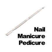 Metal Manicure Pedicure Cuticle Nail Pusher Spoon Cut Remover Knife Cleaning Kits Tools