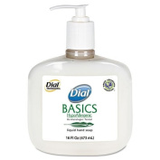 Dial basics liquid hand soap pump 350ml [PRICE is per CASE] by Lagasse