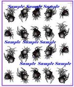 Halloween Spider Nail Art Decals