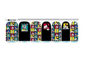 Cartoon Colourful Nail Art Wraps Decals Nail Art Transfer Stickers Set of 14