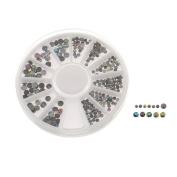 EOZY Women 3D Nail Art Tips Gems Crystal Glitter Rhinestone DIY Decoration Wheel
