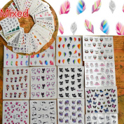 50sheets Nail Art Water Transfer Stickers Mixed Designs Beauty Flower Watermark on nails tips Decals Wraps Nail Art