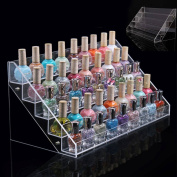 Fecruize 5 Tiers Clear Acrylic 65 Bottles Nail Polish Cosmetic Makeup Rack Display Stand Organiser Hot