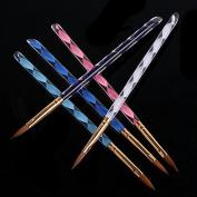 Surborder Shop® Acrylic Nail Art Brush Set 5pcs with a Key Chain