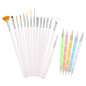 H88 - 15 Pcs Nail Art Painting Dotting Drawing Polish Brush Pen Tools Kit Set