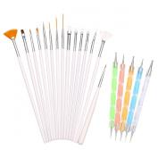 H88 - 15 Pcs Nail Art Painting Dotting Drawing Polish Brush Pen Tools Kit Set