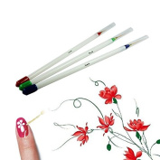 ACE 3X Nail Art Acrylic Tips Liner Drawing Brush Pen Paint