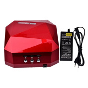iMeshbean Professional 36W Red Colour 2 in 1 CCFL & LED UV Nail Gel Lamp Dryer with Timer USA